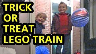 TRICK OR TREAT LEGO TRAIN: Dutch Halloween! starring: Nephew Vince and Niece Amy!